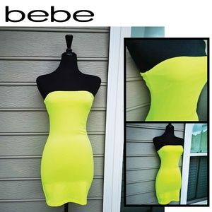 bebe Women Bodycon Strapless Off Shoulder Dress